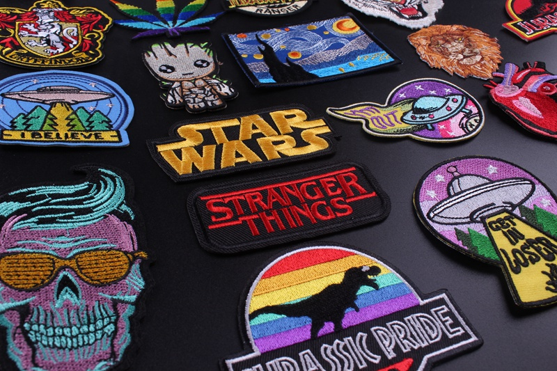 HTB1J5 kVNnaK1RjSZFBq6AW7VXaQ Prajna Star Wars Embroidered Patches For Clothes Stickers Stripes Hippie Patch Groot Iron On Patches Applique Sticker Galaxy