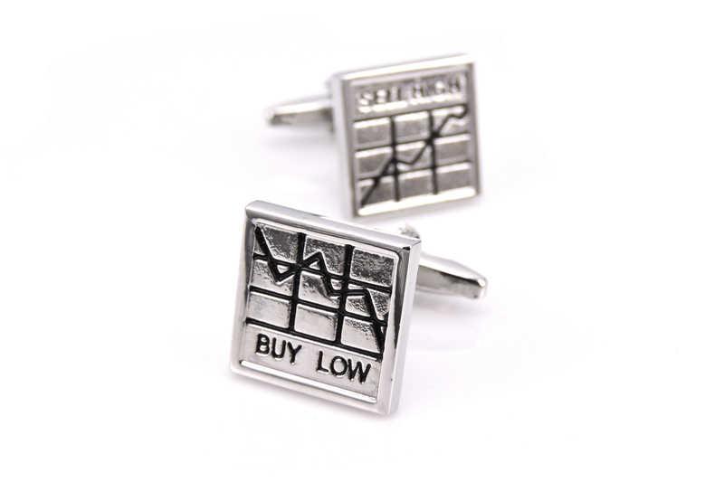 WN stock popular acciones para ganar dinero suerte gemelos moda clásica plata francesa camisa gemelos a envío gratis