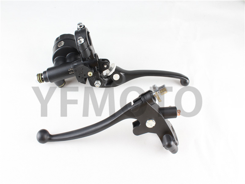 7/8 Left&Right Motorcycle Hydraulic Brake Master Cylinder Clutch Lever Pump For Universal Motorcycle Brake Handlebars 22mm left 1 25mm universal motorcycle brake clutch master cylinder hydraulic pump lever for suzuki yamaha kawasaki honda