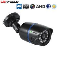 Ahd câmera 1080 p 2mp cctv bala plástico ao ar livre à prova dwaterproof água câmera de segurança vigilância visão noturna 1080 p 2.0mp ahd câmera