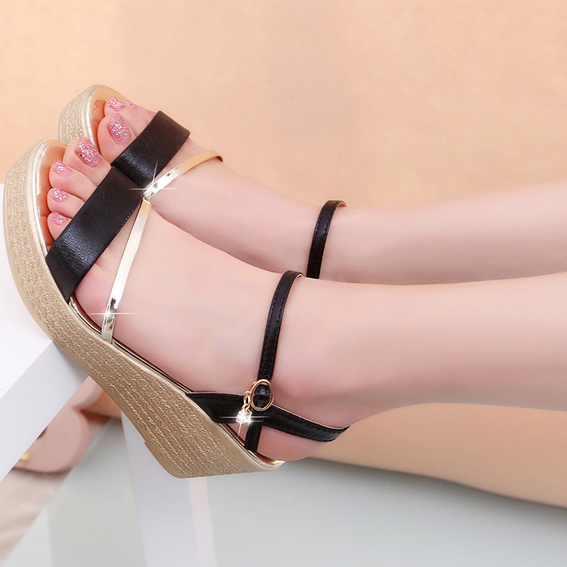Wedges Platform Women Sandals Fashion Quality Comfortable Bohemian Women Sandals For Lady Shoes high heel Women Summer Shoes mcckle fashion superior quality comfortable bohemian wedges women sandals for lady shoes high platform open toe flip flops plus