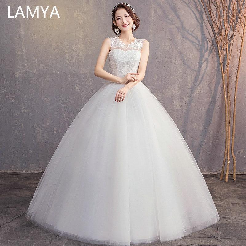 Simple Elegant Lace Wedding Dresses Naf Dresses: LAMYA Customized Elegant Simple Lace Wedding Dresses Long