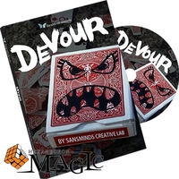 Free Shipping Devour DVD And Gimmick By SansMinds Creative Lab Close Up Street Mentalism Classic Card