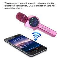 Wireless Bluetooth Karaoke Handheld Microphone USB KTV Player Bluetooth Mic Speaker Music Wireless Microphones With Led Light