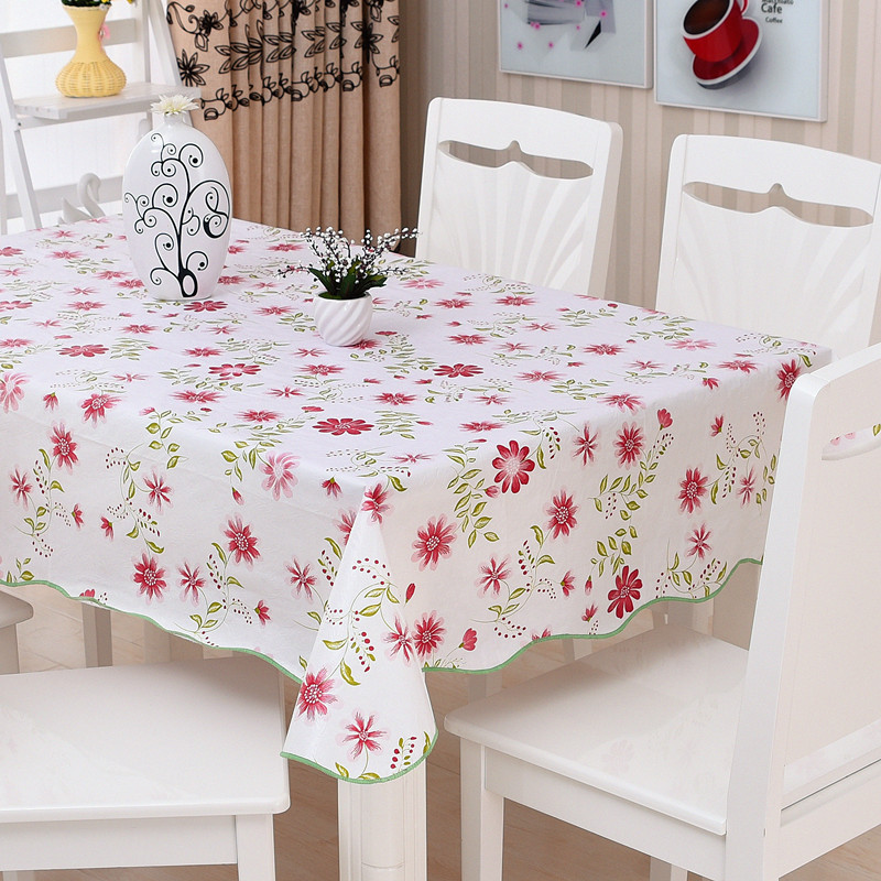 Aliexpresscom Buy Waterproof Oilproof Wipe Clean PVC Vinyl   Kitchen Table  Cover