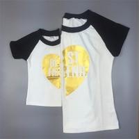 2016 Newest Best Friends T Shirt  Family Summer Clothing Outfit Short Sleeve Girl Tops Tees Women Kis Men Popular Cotton t shirt