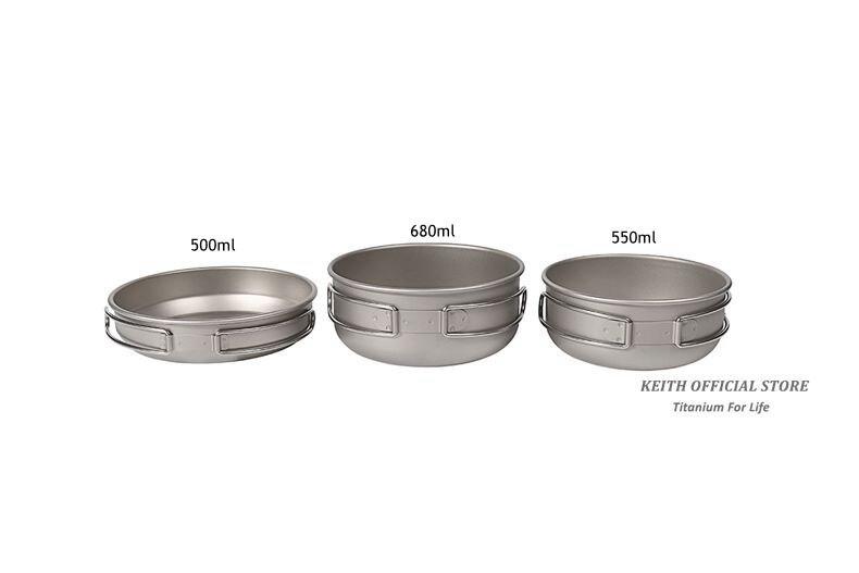 de titânio acampamento caminhadas piquenique utensílios de cozinha ti6053