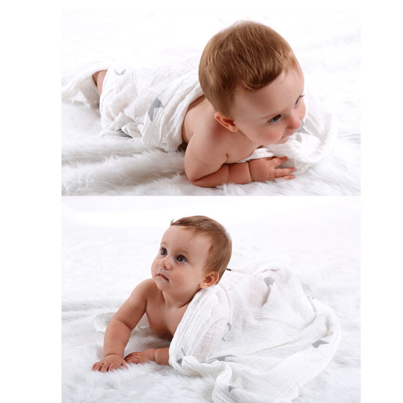 Cotton Baby Swaddles Soft Newborn Blankets Black White Gauze Infant Wrap For Newborns Swaddle Blanket 110*110cm