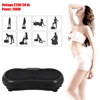 Ultra Thin Massage Vibration Plate Machine Body Building Shaping Weight Loss Fat Burning Gym Exercise Vibration Fitness Massager