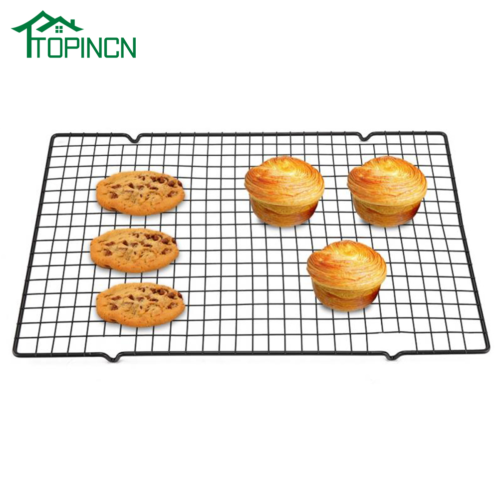 TOPINCN Stainless Steel Nonstick Cooling Rack Cooling Grid Baking Tray For Biscuit Cookie Pie Bread Cake Baking Rack