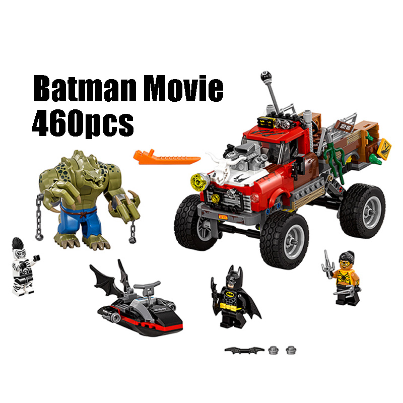 WAZ Compatible Legoe batman 70907 Lepin 07051 super heroes movie blocks Killer Croc Tail Gator toys for children building blocks decool 7118 batman chariot super heroes of justice building block 518pcs diy educational toys for children compatible legoe