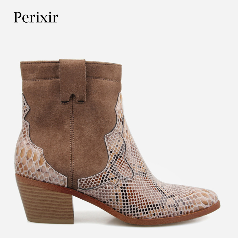 Women shoes Zipper Boots Snake Print Ankle Boots Square heel Fashion Pointed toe Ladies Sexy shoes 2019 Spring New Chelsea BootsWomen shoes Zipper Boots Snake Print Ankle Boots Square heel Fashion Pointed toe Ladies Sexy shoes 2019 Spring New Chelsea Boots
