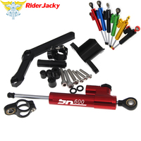 CNC Adjustable Motorcycle Linear Reversed Steering Damper with bracket Support For Benelli BN 600 BN600