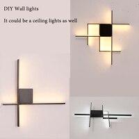 Modern Aluminum Wall Sconce Bedside Lights for Corridor aisle LED Wall Lights Lamp fixture for home Entrance