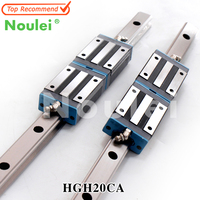 Noulei HGR20 guia CNC Linear Guide Rails 20mm with HGH20CA Carriage Block HGH20 for CNC axis parts 400mm 600mm 1000mm