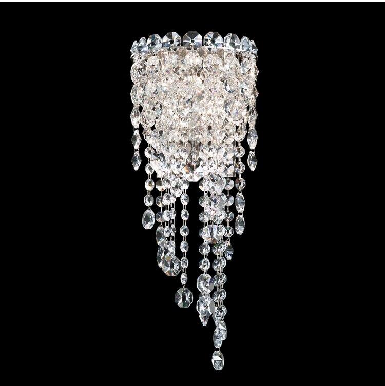Phube Lighting LED K9 Crystal Wall Lamp Light Modern Sconce Light Lighting Silver Wall Lamp Free