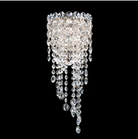 Phube Lighting LED K9 Crystal Wall Lamp Light Modern Sconce Light Lighting Silver Wall Lamp Free Shipping