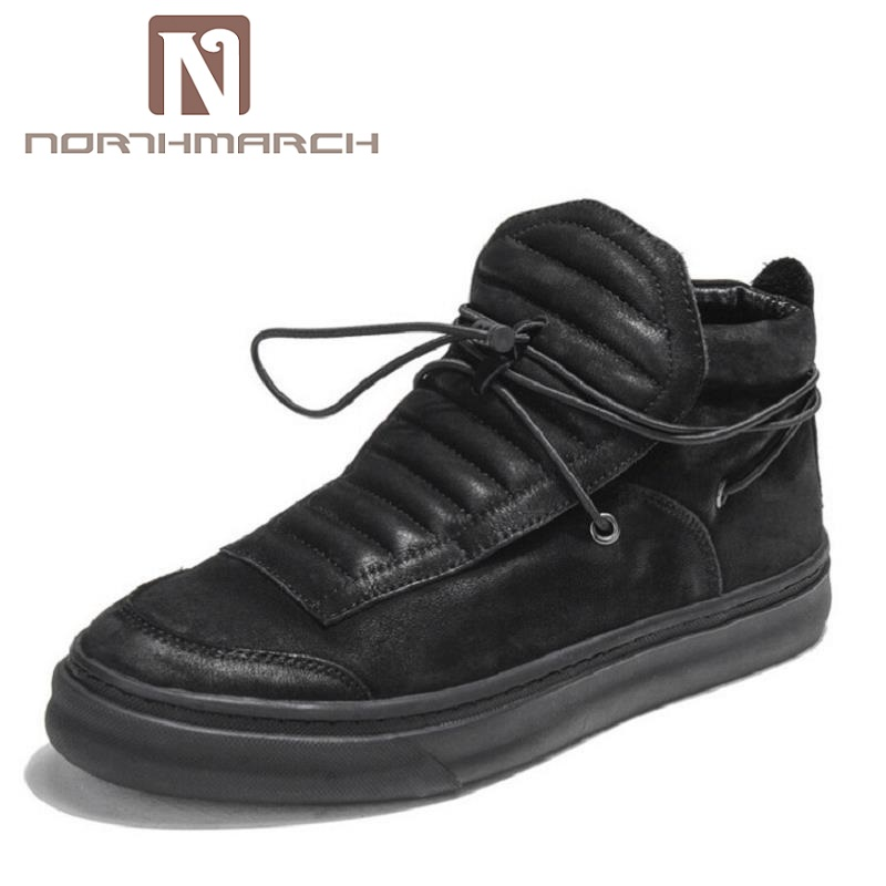 NORTHMARCH Winter Men Casual Shoes Brand Green Comfortable Shoes Handmade Elastic Leather Male Shoes Sapatos Masculinos men shoes 2016 luxury brand men shoes autumn man s canvas shoes fashion mens casual shoes comfortable sapatos masculinos