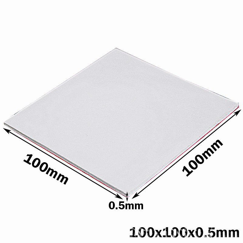 100PCS 100X100x0 5MM White SMD DIP IC Chip Thermal Pad GPU CPU Heatsink Cooling Conductive Silicone