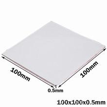 100PCS 100X100x0.5MM White SMD DIP IC Chip Thermal Pad GPU CPU Heatsink Cooling Conductive Silicone Pad