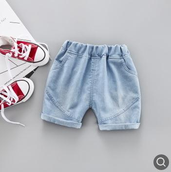 5/10 Length Kids Pants 2019 Children's Denim   Shorts   Summer Korean Children's Clothing Toddler Baby Boys Girls Jeans SY-F192101