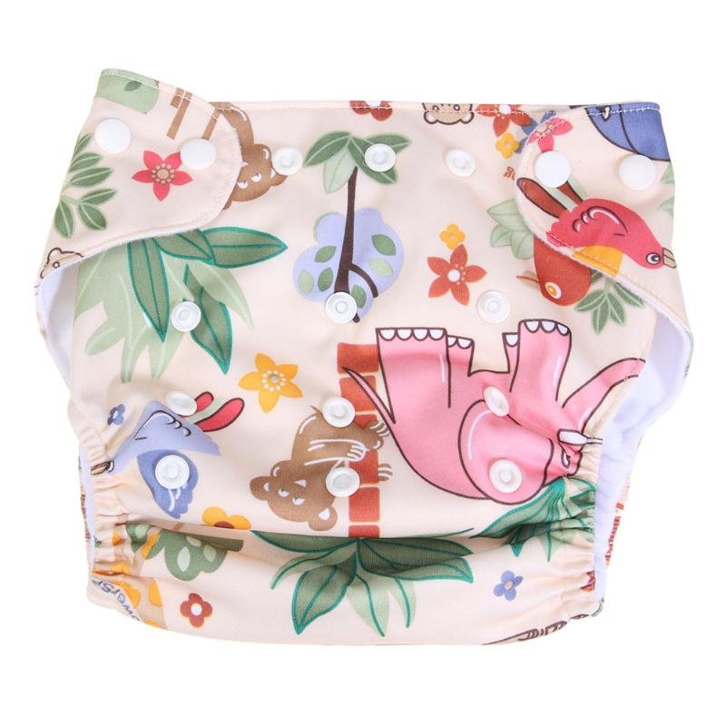 Washable Baby Cloth Diaper Cover TPU Waterproof Printing Baby Diapers Reusable Cloth Nappies Adjustable Newborn Training Panties