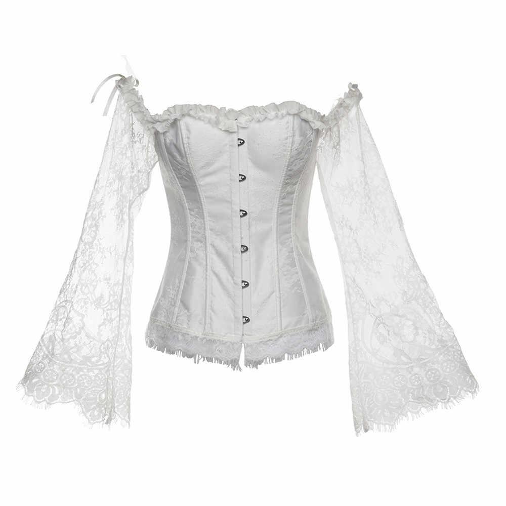 ימי הביניים רטרו רנסנס ויקטוריאני משפט שמלת מחוך תחרה למעלה לנשים סקסי גרביונים מסיבת תלבושות