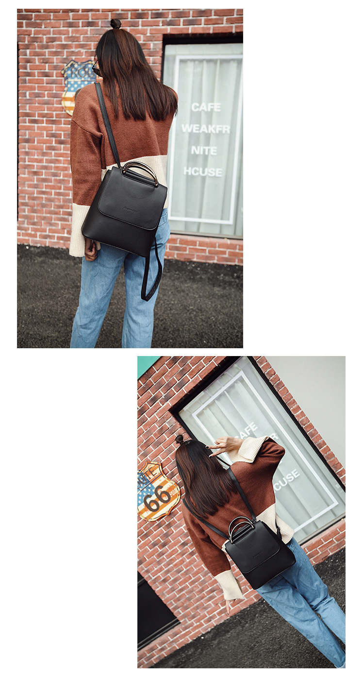 Fashion Women Backpack Pu leather travel bagpack large School Shoulder Bags For Teenager Girls mochila feminina 2019 Quality