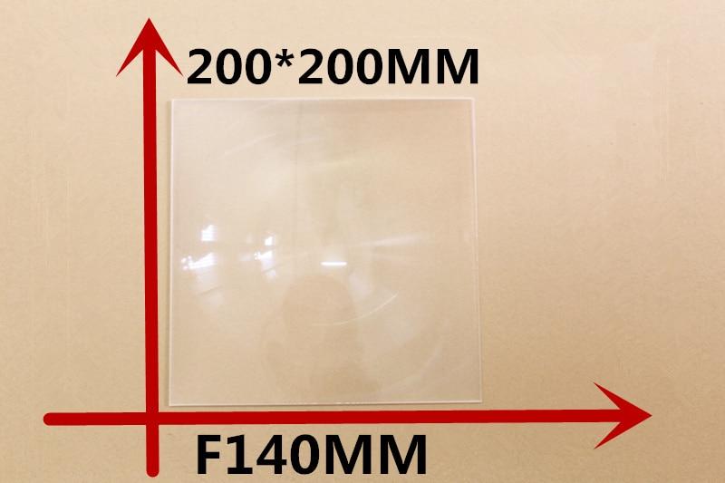 1 pcs quare Fresnel Lens 200*200MM Focal length 140mm Solar energy condenser lens Easily ignited the wood,High pervious to light  цены