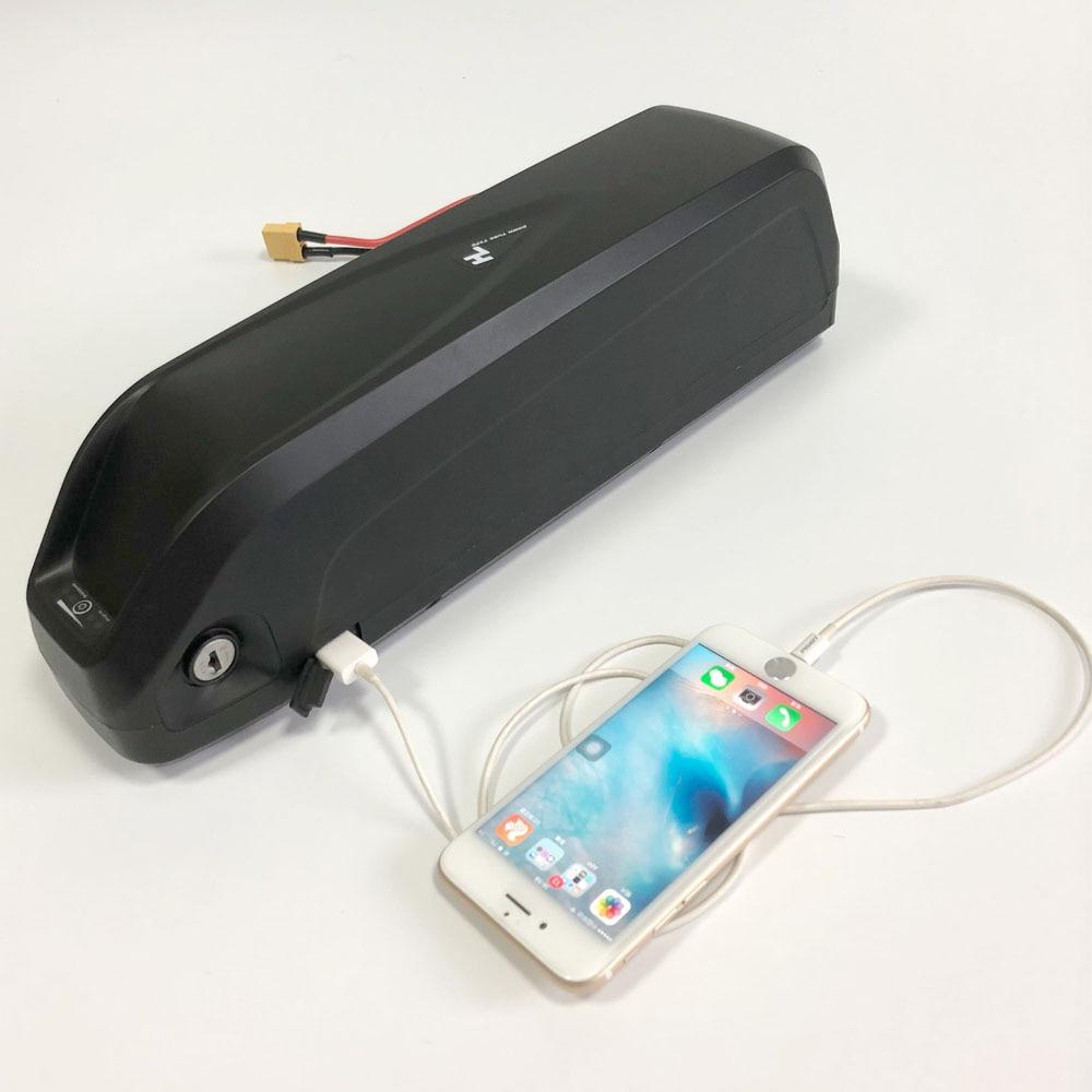 Hailong II Com Plug USB E Moto-Bateria Bateria de iões de Lítio com BMS 30A 48 v 17Ah para 750 w BBSHD BBS02 1000 w Bafang Motor