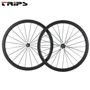 Image 2 - 38mm 50mm 60mm 88mm carbon rims 700C clincher road wheels R36 Ceramic hub tubular Basalt brake Carbon Bicycle road bike Wheelset