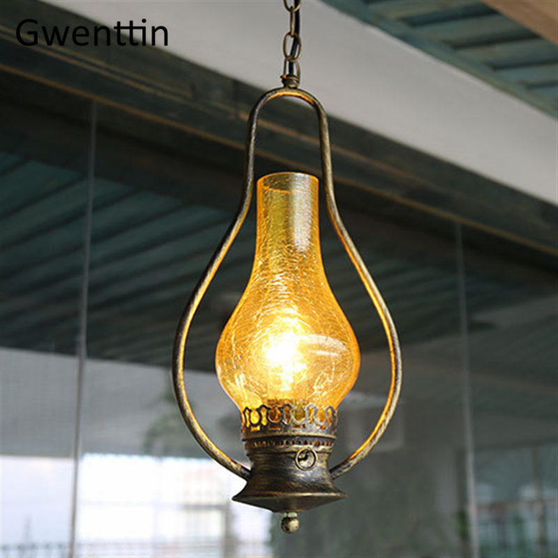Retro Kerosene Pendant Lights Hanglamp for Dining Room Bedroom Home Decor Hanglamp Led Light Fixtures Loft Industrial LuminariasRetro Kerosene Pendant Lights Hanglamp for Dining Room Bedroom Home Decor Hanglamp Led Light Fixtures Loft Industrial Luminarias