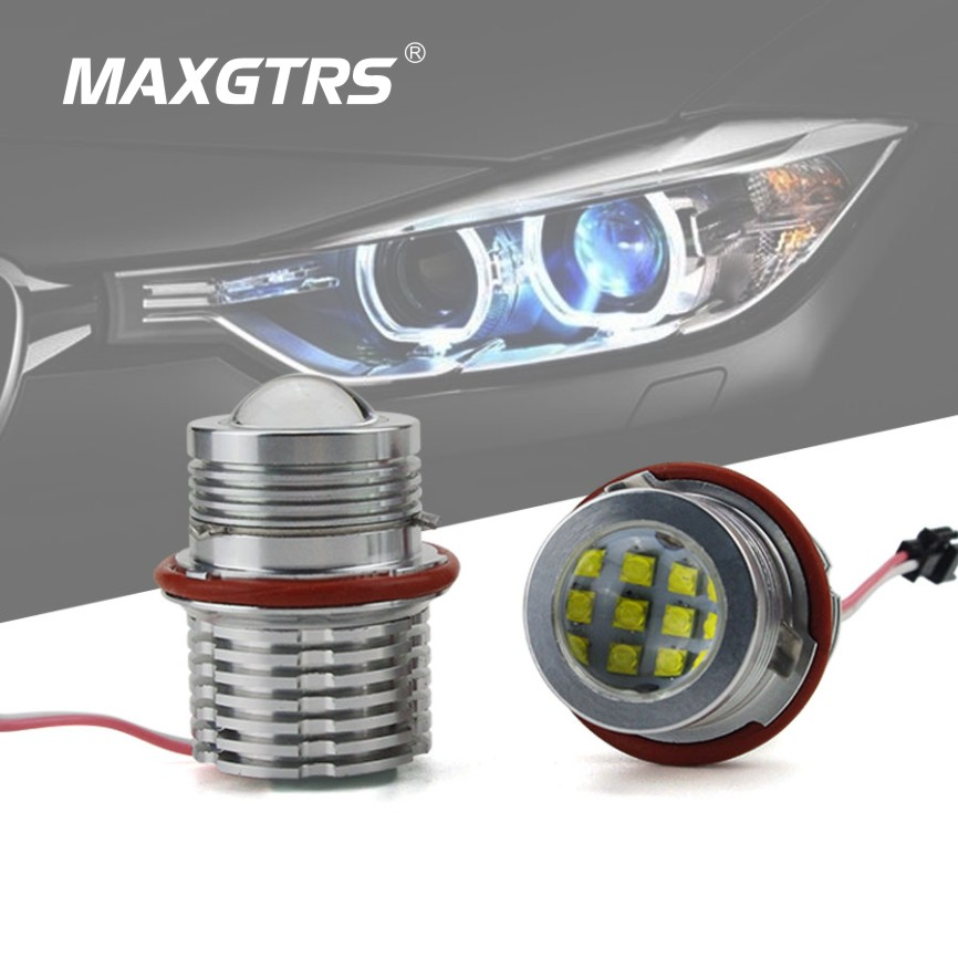 Professional 2 X 60W CREE Chip LED Angel Eye Halo Ring Marker Light Bulb for BMW E39 E87 E61 E63 E64 E83 E53 White/Blue/Red