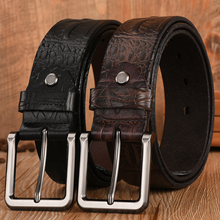 Men's Top Quality Genuine Leather Pin Buckle Belt