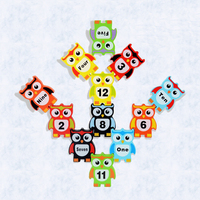 MamimamiHome 아기 되었답니다 나무 세트 장난감 다양한 올빼미 했답니다 높은 균형 나무 몬테소리 개발 장난감 퍼즐