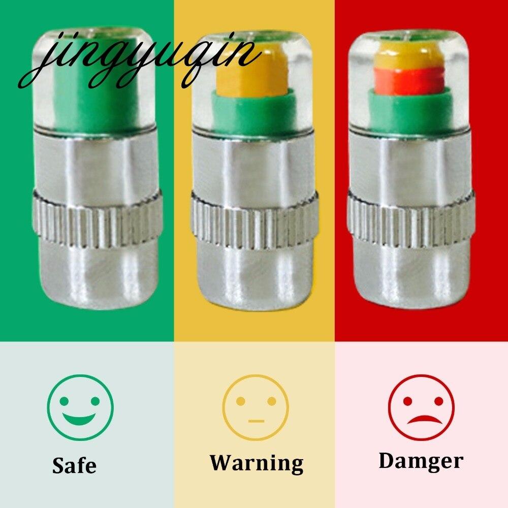 imágenes para Jingyuqin 40 unids/lote Válvula Indicador Monitor de Presión 2.4bar tire Nuevo Neumático de Coche Stem Cap Sensor 3 Color de Ojos Alerta
