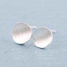 Jisensp-pendientes circulares simples minimalistas para mujer, joyería con estilo Punk de Metal, aretes redondos de tuerca para mujer, bisutería de cobre