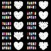 OPHIR Set14 Airbrushing 20x Template Sheet Stencil For Airbrush Kit Nail Art Paint JHF14