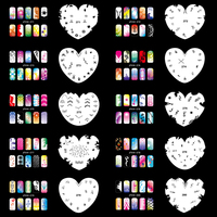 OPHIR 200 Designs Airbrush Nail Art Stencils 20PCS Airbrushing Template Sheet Stencil for Airbrush Nail Art Paint _JFH14