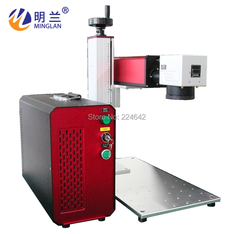 20W fiber laser marking machine on metal/ Minglan with CE FDA CO/ 20W fiber laser engraving machine with rotary/ By Air Sea DHL