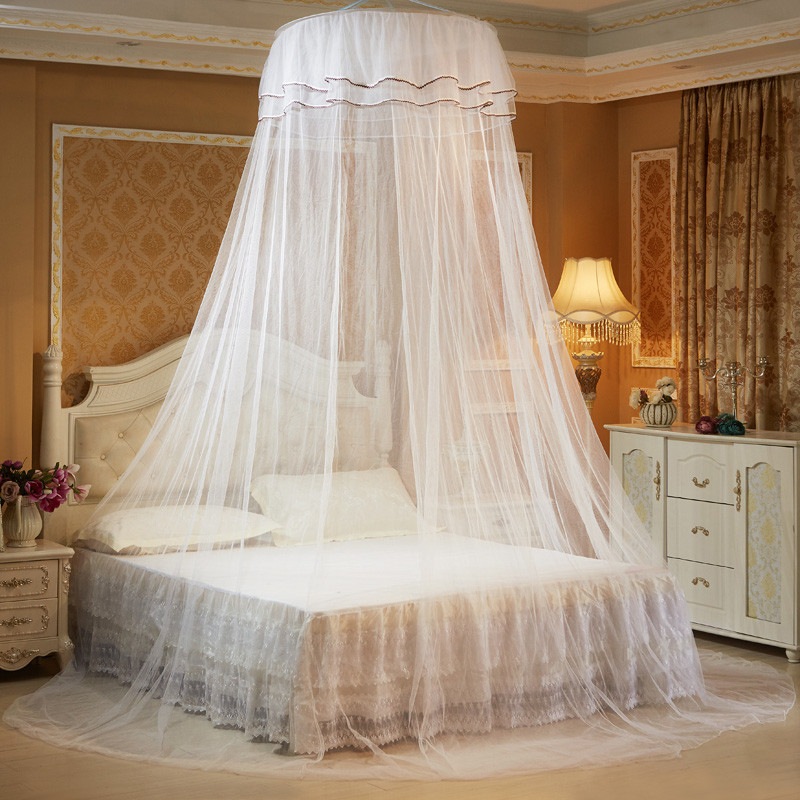 Lace curtain ceiling net mosquito net for double bed home - Bed canopies for adults ...