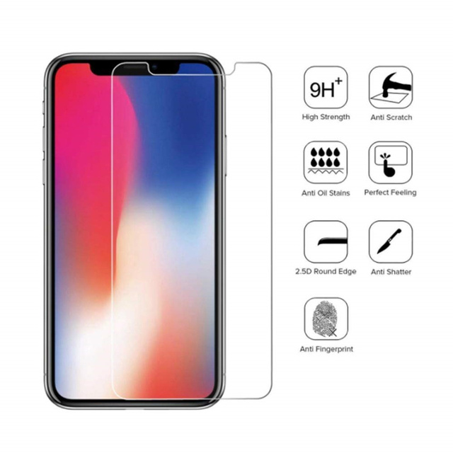 3PCS Screenprotector Tempered Glass for IPhone 11 Pro X XR XS Max 8 7 6