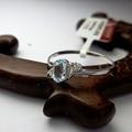 Hotsale anillo de topacio azul natural 4mm * 6mm luz natural azul topacio anillo de plata esterlina del sólido 925 de plata anillo de la piedra preciosa del topaz