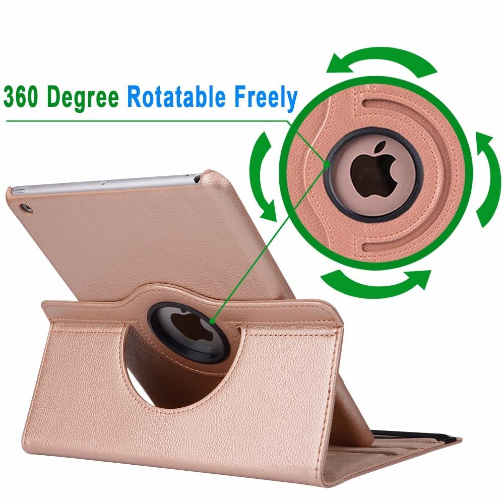 360Degree Funda de cuero con cubierta inteligente para Apple iPad Air - Accesorios para tablets - foto 4