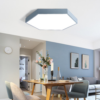 modern simple black pink white blue yellowr 3 color change surface mounted ceiling light