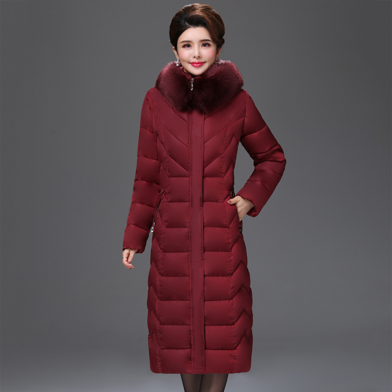 Plus Size 4XL 5XL 6XL 2019 Women Winter Jacket Warm Thicken Hooded With Fur Collar Female X-long Parka   Down     Coat   High Quality