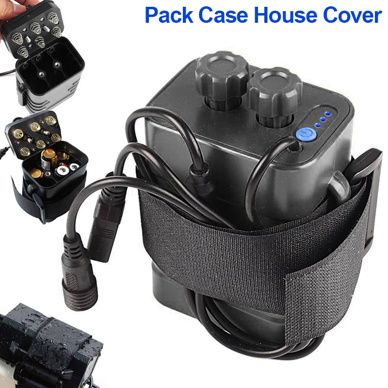 Hot 6 Section 18650 Waterproof Battery Case 18650 Battery Pack 5VUSB/8.4VDC Dual Interface 18650 Waterproof Battery House Cover-in Outdoor Tools from Sports & Entertainment