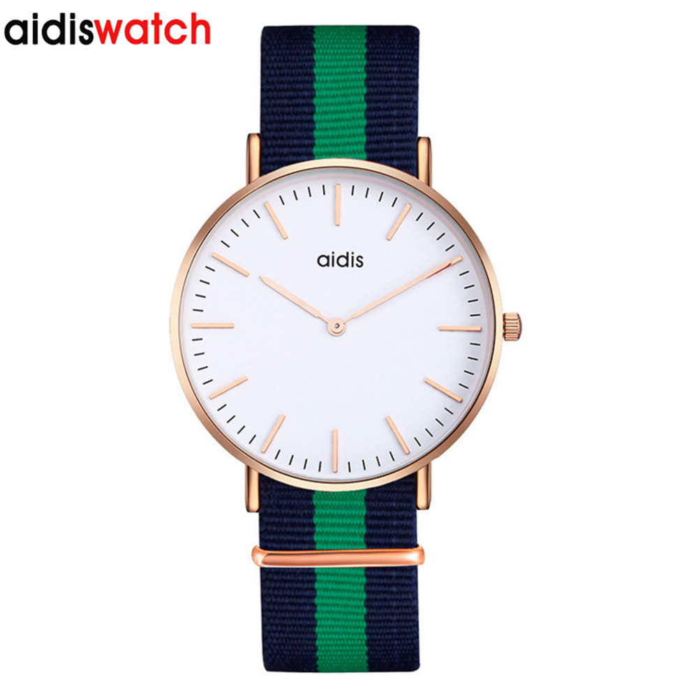 Aidis Fashion Colorful Strap Quartz Watch Men Casual Male Sport Business Wrist Men's Watches Simple Unisex Nylon Strap Watches все цены