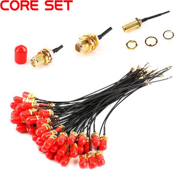цена на 5pcs 15cm SMA Extension Cable Straight Jack to uFL/u.FL/IPX/IPEX Female Connector Pigtail Antenna RF Pigtail Cable 1.13mm