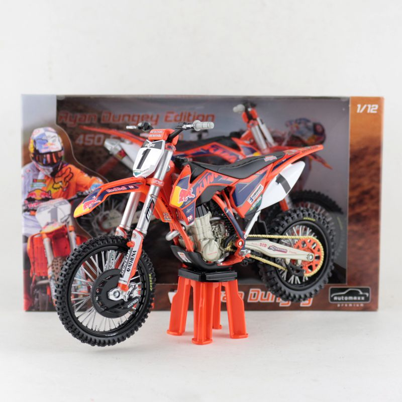 Automaxx/1:12 Scale/Plastic Toy Model Motorcycle Toy/KTM 450 SX-F NO.1 Ryan Dungey Red Bull Team Motorcross Collection/Gift